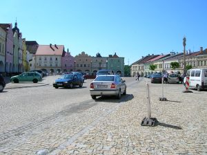 The main square of the town