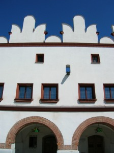 The stunning facade of a building on the main square