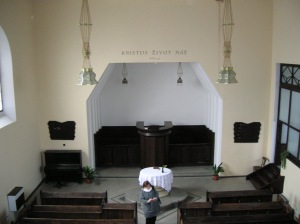 Evangelist church interior
