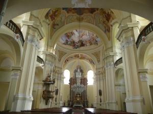 Interior of Hejnice Basilica