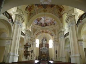 Interior of Hejnice Basilica