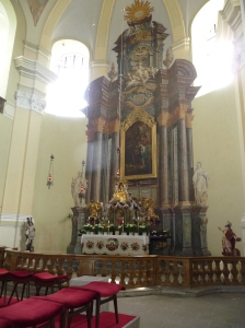 The main altar in Hejnice Basilica