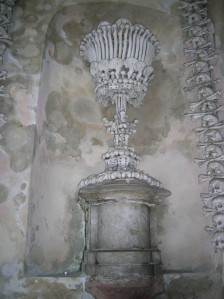A chalice made out of human bones