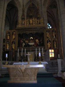 The main altar in the cathedral