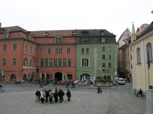 The Hotel Kaiserhof across from the cathedral
