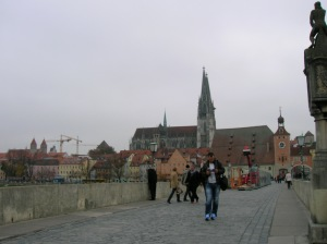 A view of the town from the Stone Bridge