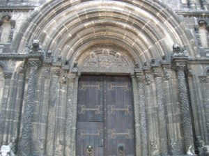 The Romanesque portal at St. James' Church