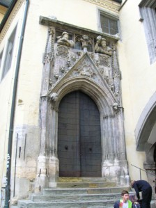 An ancient door at the Old Town Hall