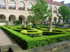 The picturesque courtyard