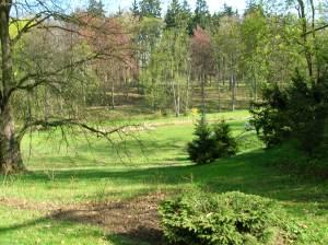 Chyše Chateau park