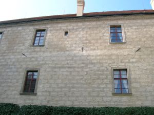 One wall of Mělník Chateau