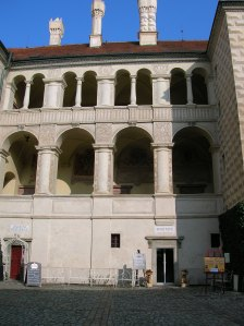 The Renaissance arcades of Mělník Chateau