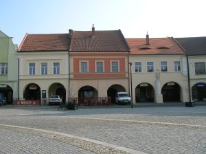 The picturesque houses on the main square