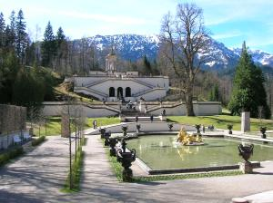 The park at Linderhof Palace