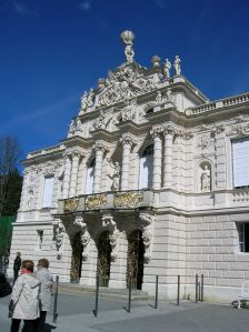 The facade of Linderhof Palace