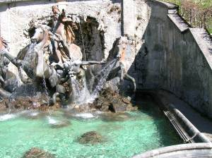 The remarkable fountain at Linderhof Palace