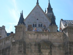 Me on the upper level at Neuschwanstein Castle