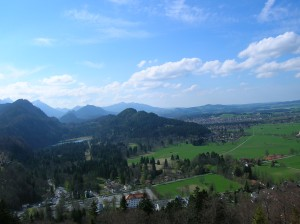 The countryside surrounding Neuschwanstein Castle