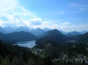 The view from Neuschwanstein Castle