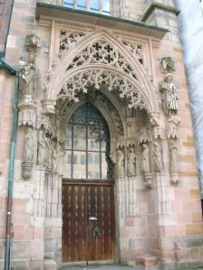 A portal of St. Sebald's Church