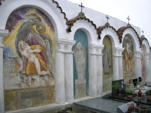 Albrechtice nad Vltavou church cemetery