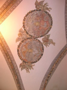 The ceiling in Čimelice