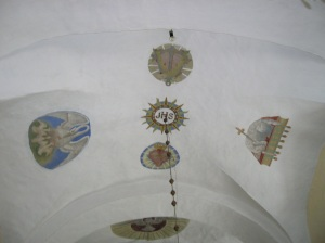 The interior of the church in Myšenec