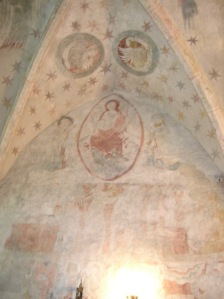 Gothic wall painting at the Church of Saint Havel