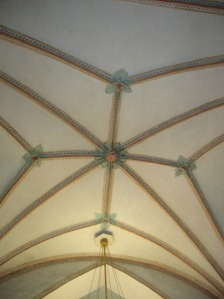 The ceiling of the church