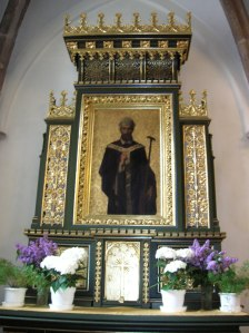 An altarpiece at the Church of the Birth of the Virgin Mary in Písek