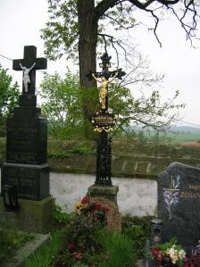 Jan Cimbura's grave in Putim