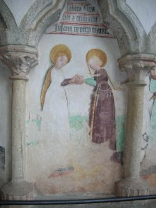 Wall painting at St. Wenceslas Chapel