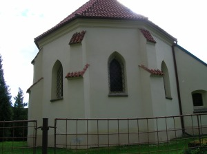 The church in Bohdaneč