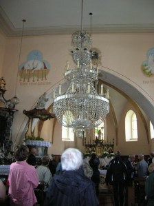 The chandeliers in Bohdaneč