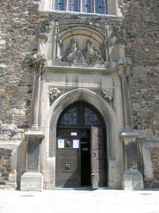 The exterior of Čáslav Church of Saints Peter and Paul