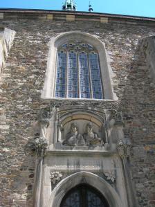 The exterior of the church in Čáslav