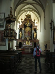 The interior of the church in Čáslav