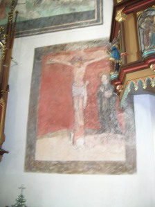 The Crucifixion of Saint John wall painting