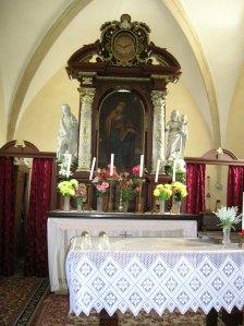 The interior of the Church of Saint Bartholomew
