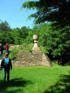 A monument at the Sion Castle ruins
