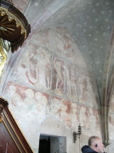 Wall paintings in the Church of Saint Giles