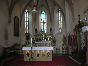 The main altar in Zbraslavice