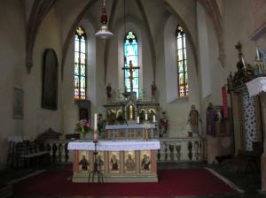 The main altar in Zbraslavice