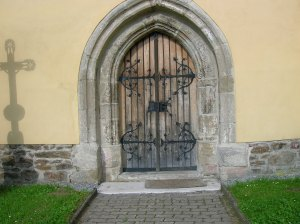 The Romanesque portal in Zbraslavice