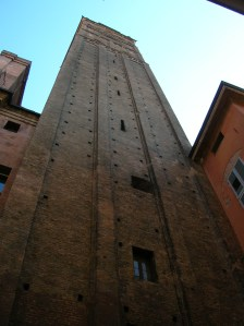 The Asinelli tower is the highest in the city at 98 meters.