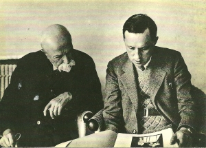 Tomáš Garrigue Masaryk and Karel Čapek
