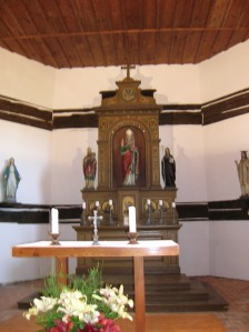The main altar of the Church of Saint Nicholas in Veliny