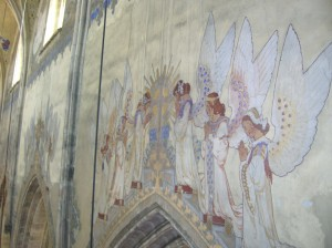 Secession wall paintings in the Church of Saint Lawrence