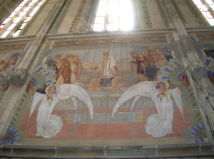 The Secession wall paintings in the Church of Saint Lawrence