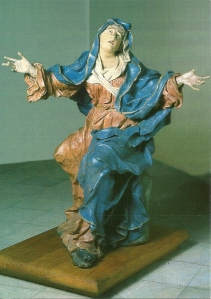 Postcard of a statue in the Church of Saint Nicholas